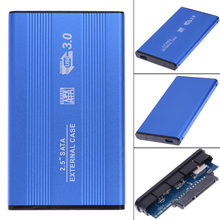 "SATA Hard Drive HD Enclosure USB 3.0 SATA 2.5"" inch External HD HDD Enclosure Hard Disk Drive Aluminum Case Box(China)"