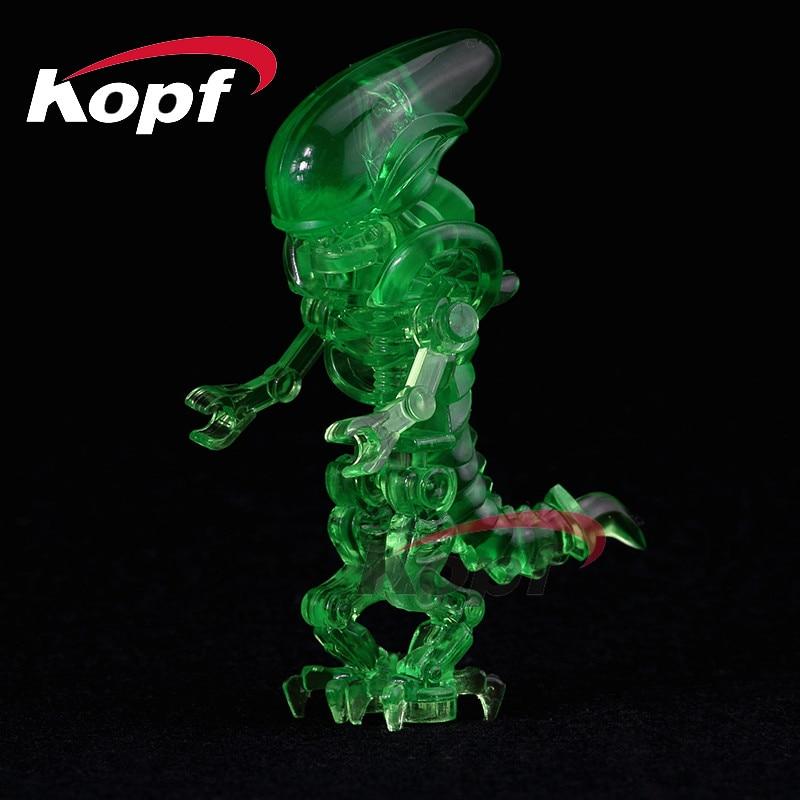Single Sale Building Blocks Skeleton Skull Alien One-Eyed Halloween Cyclops Omino Snake Undead Figures For Children Toys PG1224