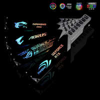 GPU Halter Halterung Aluminium Legierung Grafikkarte Jack 5V 3PIN ARGB/12 V 4PIN RGB VGA Rahmen NVIDIA ROG AORUS AURA SYNC Symphonie