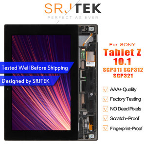 Srjtek For Sony Xperia Tablet Z 10.1 SGP311 SGP312 SGP321 LCD Display Matrix Screen Touch Panel Tablet PC Assembly with Frame(China)
