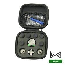 Juego de parachoques de Metal para Controlador XBOX ONE Elite, empuñaduras analógicas para Gamepad PS4, Thumbstick Swap, botones de disparo, almohadillas en D