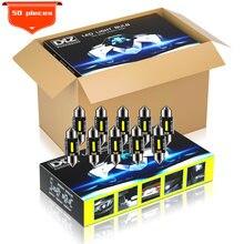 Dxz 50 pces c5w c10w lâmpadas led canbus Festoon-36MM csp 1860 nenhum erro interior do carro dome luz luzes de leitura 12v/24v 3w universal