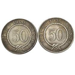 Malaysia Commemorative Coins 1900/1906 Head Portrait Sarawak 50 Cents Collection Coin Crafts Souvenir Decoration Gift