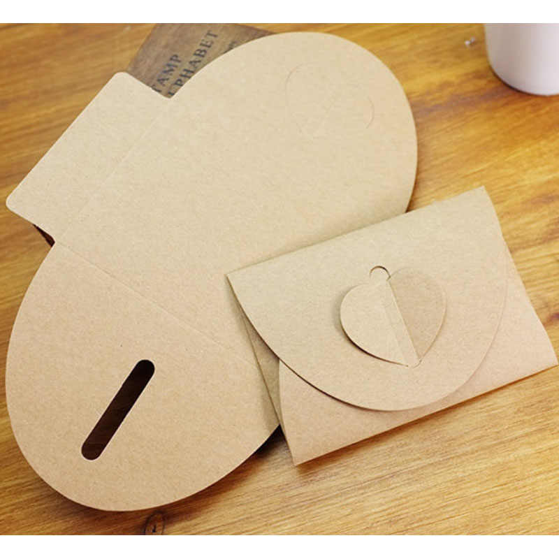 MissYe Store heart Craft Paper Envelopes Vintage European Style Wedding Invitation gift Envelope For Card Scrapbooking Gift