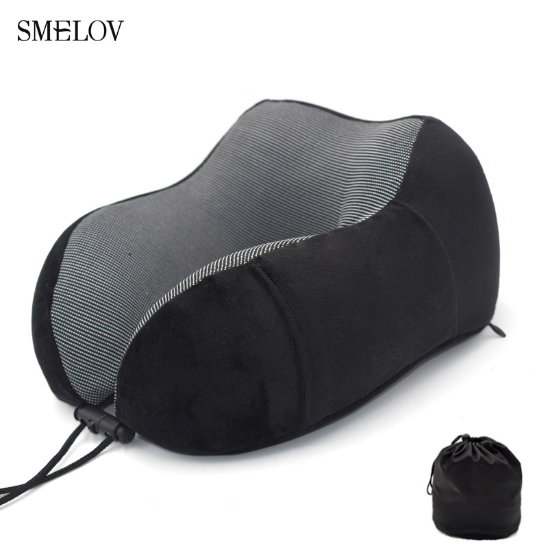 Portable neck travel pillow U Shape Memory Foam cushion neck support pillow office Airplane Neck headrest nap sleeping pillows in Decorative Pillows from Home Garden