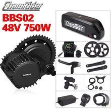 Bafang BBS02B 48V kit de vélo électrique 750W ebike kit de conversion 8fun kit de conversion de vélo électrique commande centrale à manivelle 48V 20AH