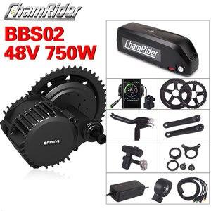 Image 1 - Bafang BBS02B 48V kit de vélo électrique 750W ebike kit de conversion 8fun kit de conversion de vélo électrique commande centrale à manivelle 48V 20AH
