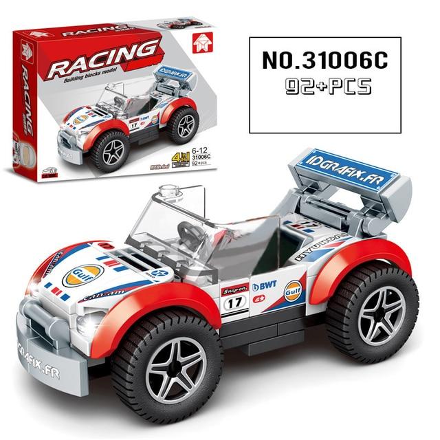 92 tablettes/ensemble Cohude assembler bloc de course bricolage enfants blocs de construction voiture petites particules jouets pour enfants cadeaux de noël