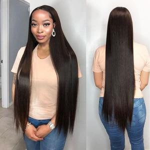 Image 3 - Brazylijskie pasma prostych włosów z zamknięciem bez pasma włosów typu remy z zamknięciem peruwiańskie ludzkie włosy splot wiązki z zamknięciem