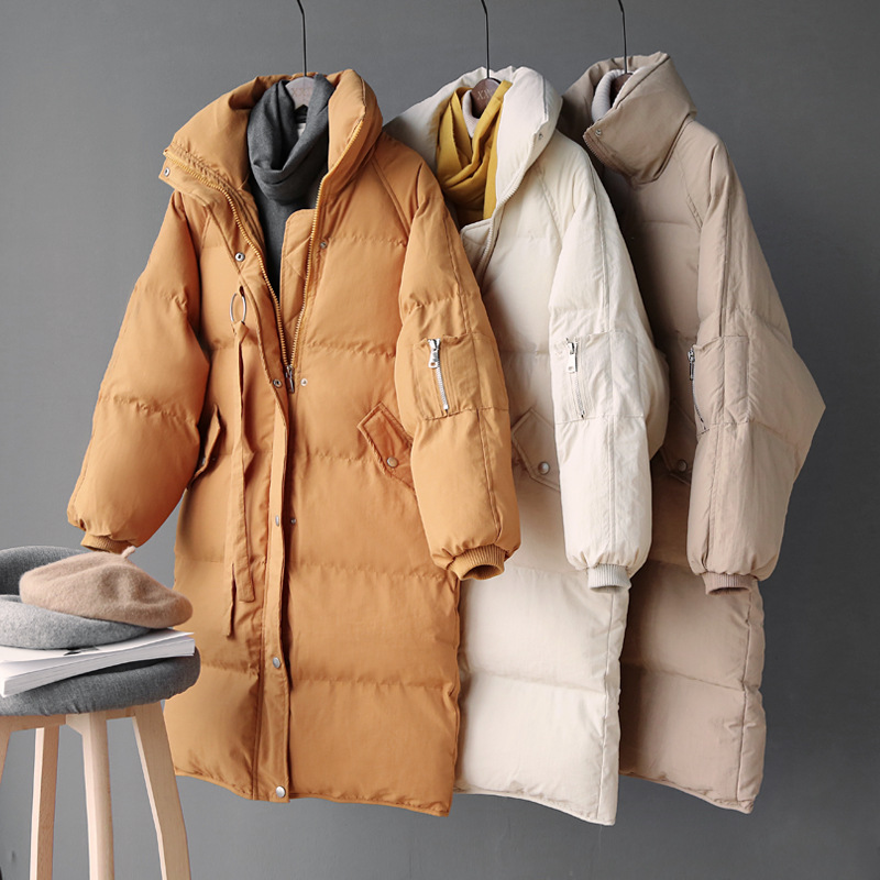 2019 Women Winter Coat Stand Collar Women Thick Long Jacket Coat Oversized Women Warm Coat Outerwear Female Casaco Feminino