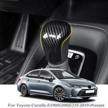 Osłona hamulca ręcznego samochodu pokrowiec z abs antypoślizgowy Parking hamulec ręczny uchwyty rękaw dla Toyota Corolla E190 E200 E210 2019-Present tanie tanio QCBXYYXH decoration Uchwyty hamulca ręcznego 0 1kg 2020 EK05