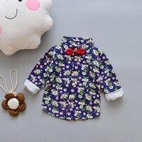 2018 نمط جديد النمط الصيني زهرة كبيرة قميص الأطفال بلوزة واحدة طويلة الأكمام القطن الخالص الربيع بوتيك الطفل-في قمصان من الأمهات والأطفال على