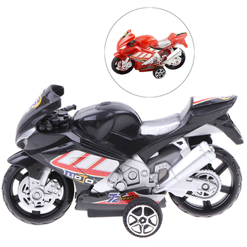 Children Collection Gift Decor Cool Model Toy Off-road Vehicle Simulation Plastic Diecast Motorcycle 9.8x5.7cm For Boy NEW image