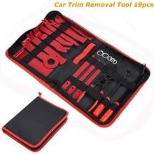 19pcs/set Car Trim Removal Tools Kit Auto Panel Dash Audio Radio Removal Installer Repair Pry Tools Fastener Removal Kit