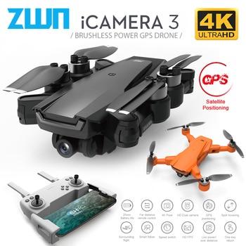 ZWN I3 GPS Drone mit 5G Wifi FPV 4K HD Dual Kamera Bürstenlosen Optischen Fluss RC Quadcopter Folgen mich Mini Eders vs L108 SG108 EX5