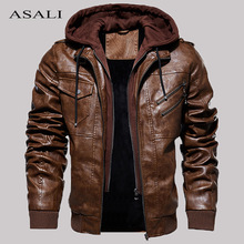 Jackets Clothing Hooded Motorcycle Fleece Autumn Mens Winter Casual Fashion Male Slim