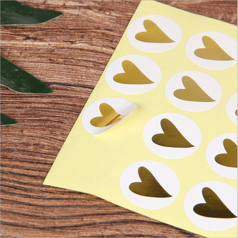 160 Pcs/lot Kawaii Hot stamping Heart Scrapbooking Paper Labels Seal Sticker Adhesive Stickers Gift Box Seal Sticker