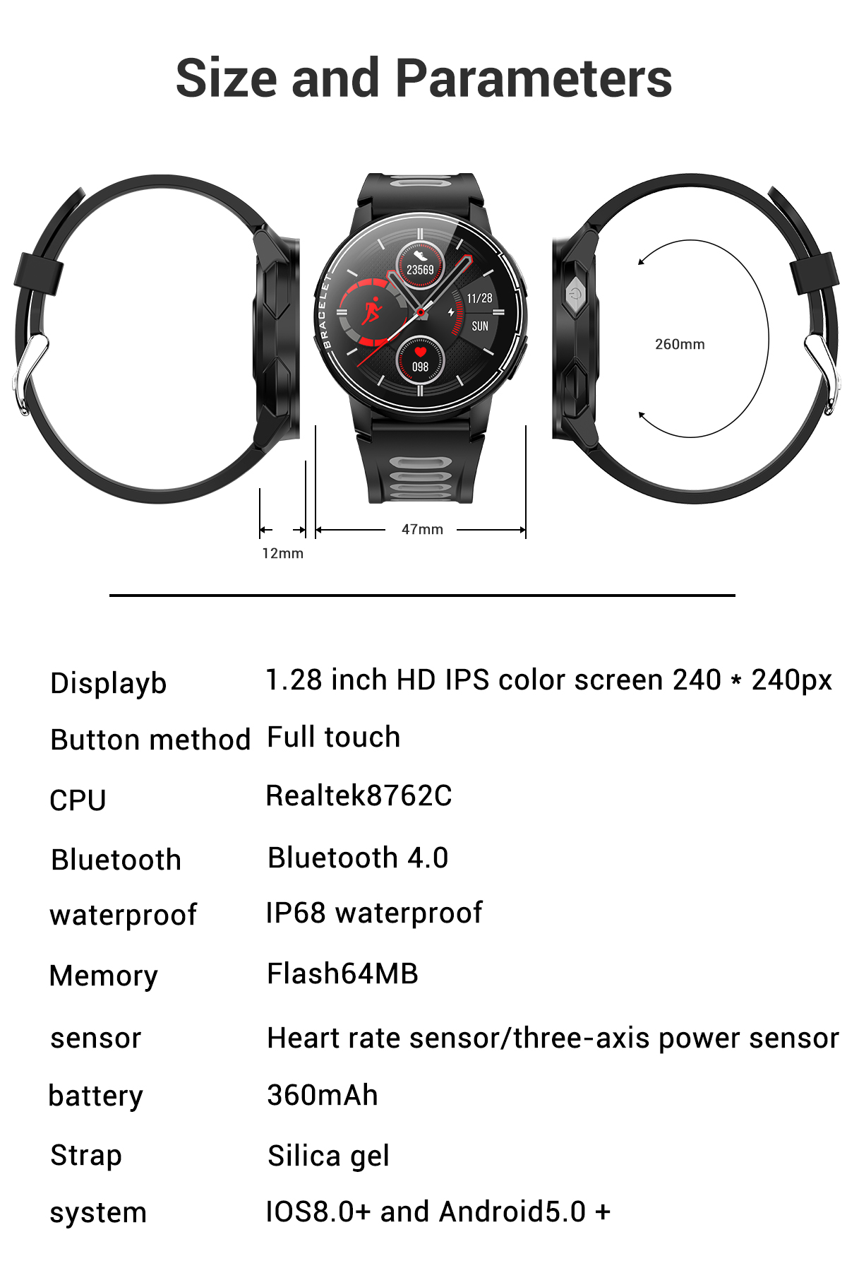 H797c47ab6a974b83bf84f6906c42315eR 2020 New L6 Smart Watch IP68 Waterproof Sport Men Women Bluetooth Smartwatch Fitness Tracker Heart Rate Monitor For Android IOS