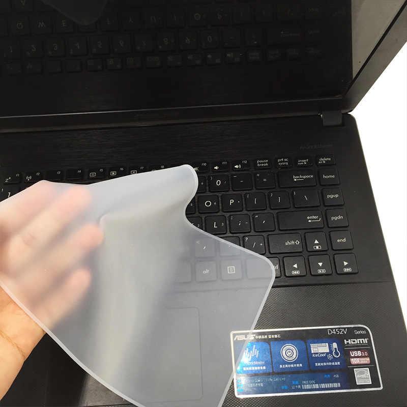 Silikonowa klawiatura laptopa futerał ochronny pokrywa przezroczysta klawiatura notebooka pokrywa pyłoszczelna Film garnitur dla 12 13 14 15 17 Cal