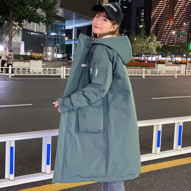 casacos de inverno feminino 2020 x long casaco de inverno para mulher com capuz estilo coreia