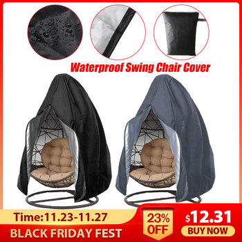 210D Large Hanging Swing Chair Cover Waterproof Patio Swing Dustproof Chair Cover For Outdoors Garden Protective Case