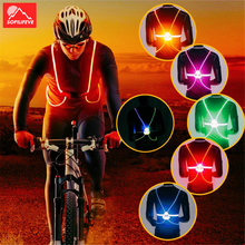 LED Cycling Vest Reflective Flash Night Running Belt Riding Visibility Bicycle Bike Vest Safety Outdoor Activities Light Vest new high visibility elastic safety reflective vest belt waistband chaleco reflector for night outdoor running cycling working