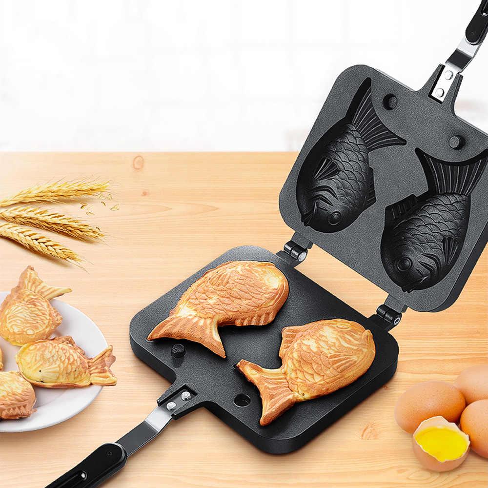 Non-Stick Pan Per La Cura Personale Apparecchio Parti di Forma di Pesce Waffle Pancake Maker Mini Pancake Macchina Per Cucinare A Casa Da Forno