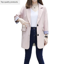2020 Spring Autumn Blazer Women Suit Foldable Jacket Ladies Refresh Blazers Loose Long OL Blazer Jacket Coat YR098(China)