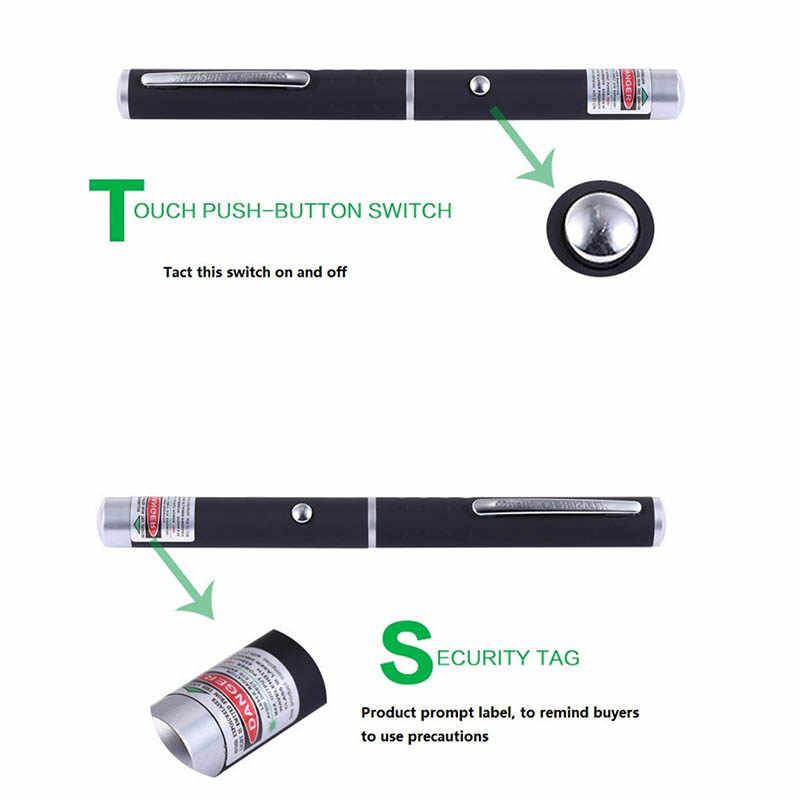 ציד אור 5MW אדום ירוק לייזר Sight מצביע מקצועי הוראה המציין עט באיכות גבוהה עוצמה מצביע לייזר עט