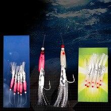 Bait Fishing-Hook Treble Carbon-Steel No Mackerel-Bass Cod Sea 5pcs/Set