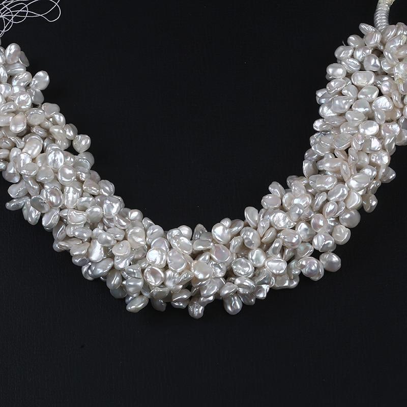 Keshi-collar de perlas de agua dulce de Color Natural, 8-9mm, grado AA, fabricación de joyas, accesorio de pulsera