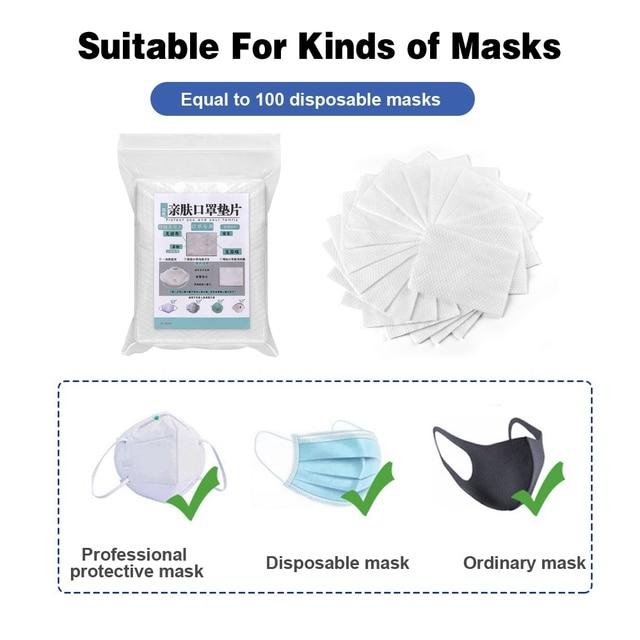 100~500pcs Disposable Mask Filter Pad Facial haze Masks Universal Protective Dustproof Replaceable Pad Suitable For All Masks 3
