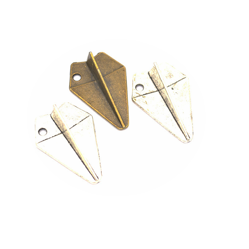 6pcs Charms Paper Airplane 31x22mm DIY Jewelry Making Pendant Fit Earring Necklace Bracelet Handcraft