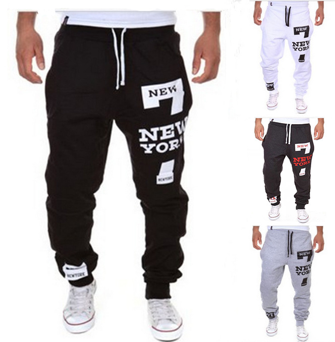 Hot Selling Casual Athletic Pants New York Printed Letter Design Fashion Athletic Pants K03