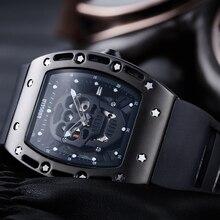 BAOGELA mężczyźni zegarki moda nowa luksusowa marka Pirate Hollow Silica zegar mężczyzna dorywczo Sport Watch mężczyźni Luminous zegarek sportowy