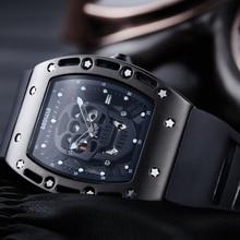 Baogela Mannen Horloges Fashion Nieuwe Luxe Merk Pirate Hollow Silica Klok Mannelijke Casual Sport Horloge Mannen Lichtgevende Sport Horloge
