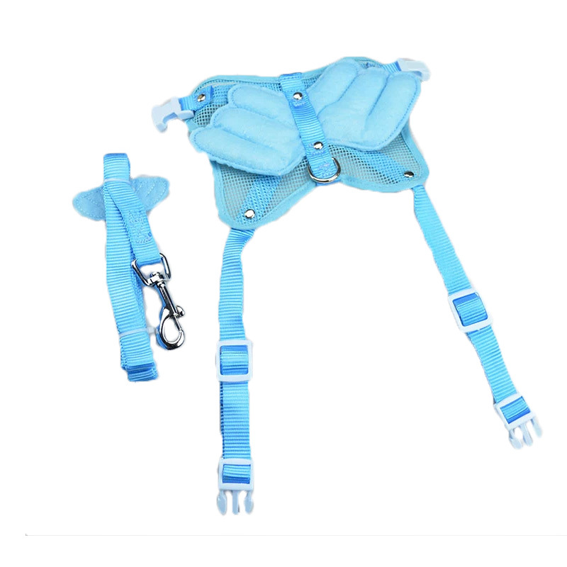 Pet Supplies Pet's Chest-back Wing Chest And Back Medium-small Dog Cute Angel Chest And Back Set Dog Hand Holding Rope