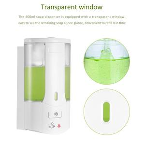 Soap Dispenser Battery Powered 400ml Wall-Mount Automatic IR Sensor Contactless Kitchen Soap Lotion Pump For Kitchen Bathroom