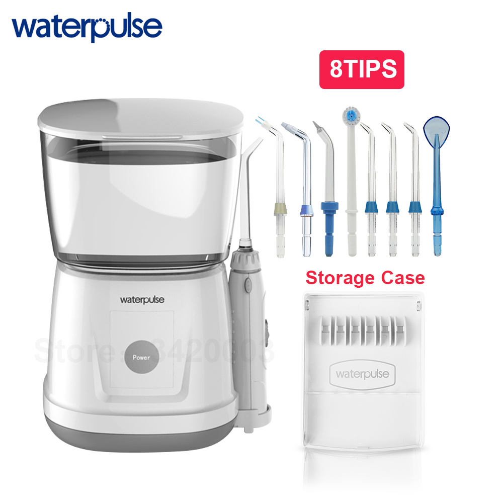 Waterpulse V700 With 8pcs Jet Tips 1000ml Touch Start  Waterproof Dental Oral Flosser Irrigator Traveler Floss Portable Flosser
