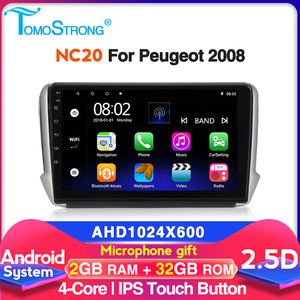 NC20 2+32G Car dvd player player For Peugeot 2008 208 2012-2018 auto radio multimedia system with SWC bluetooth wifi car stereo