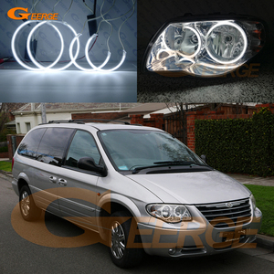 For Chrysler Voyager Grand Voyager IV 2005 2006 2007 2008 Excellent Ultra bright illumination CCFL angel eyes kit halo rings(China)