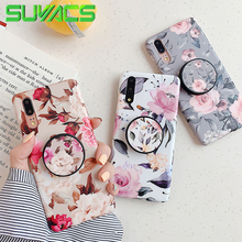 SUYACS Elastic Holder Vintage Floral Phone Case For