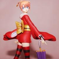 Yaya Anime G. E. M Gintama Yoshihara Article Night Rabbit Family Kagura Umbrella Garage Kit Doll Ornaments