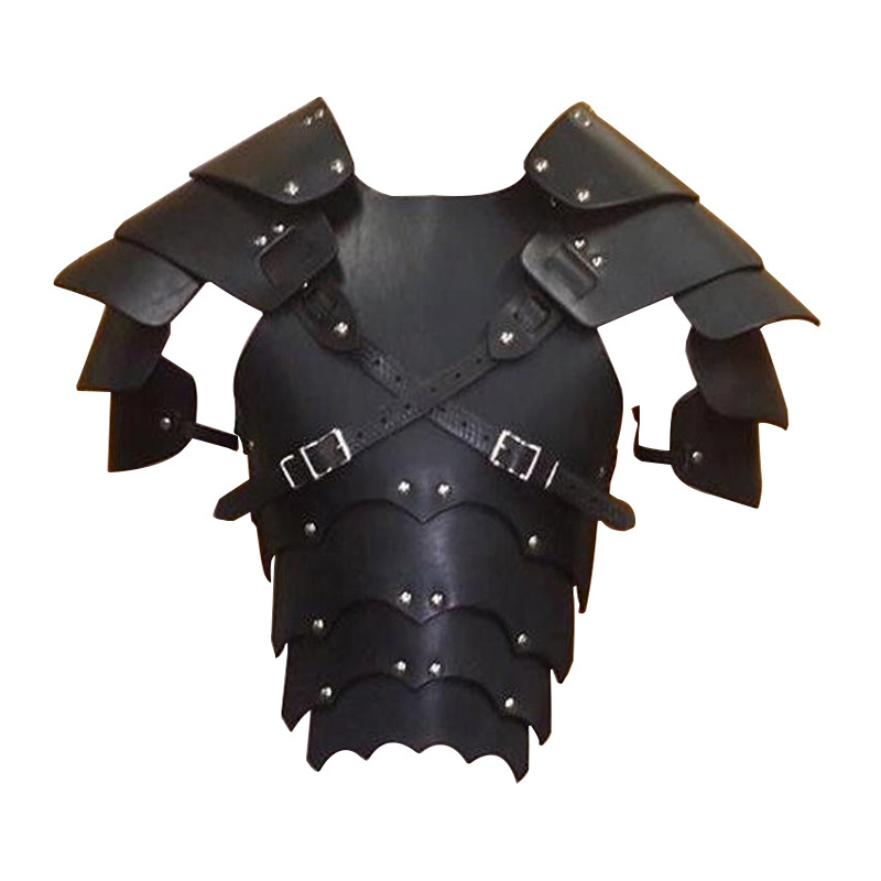 Gothic Warrior Knight Armors Medieval Renaissance Events Party Props Arm Chest Harness LARP Pirate Cosplay Goth Costume For Men