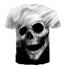 2019 3D Print Black Mens T-Shirt Gothic Punk Rock Rider Reaper Death Skull Finger Series and Womens