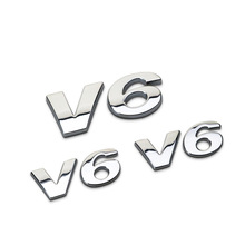 3D Car Logo Sticker Emblem Auto Badge Decal For V6 Mercedes BMW Audi Ford Fiesta Mustang Ranger Nissan Toyota Honda Styling