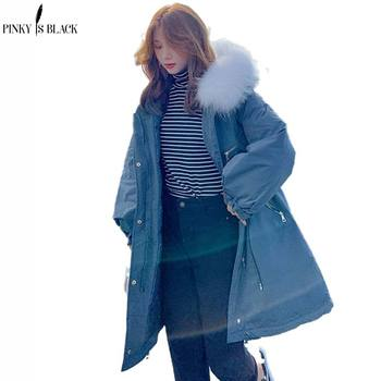 PinkyIsBlack 2020 New Womens Winter Jacket Long Parkas Women Coat Down Cotton Liner Clothing