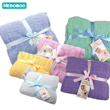 Medoboo Diaper Cocoon Baby Blankets Newborn Wrap Swaddle Bath Envelope for Discharge Childrens Plaid Receiving Blanket
