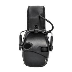 Orejeras para tiro electrónico deportes al aire libre anti-ruido amplificación tácticas caza protección auditiva auriculares plegables