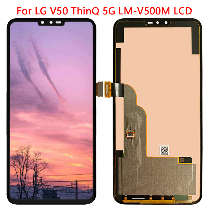 Display For LG V50 ThinQ 5G LCD Display With Frame Touch Screen Digitizer Assembly Replacement Parts LCD For LG V50